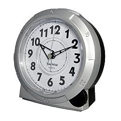 TimeWise Yale Analog Alarm Clock Silver