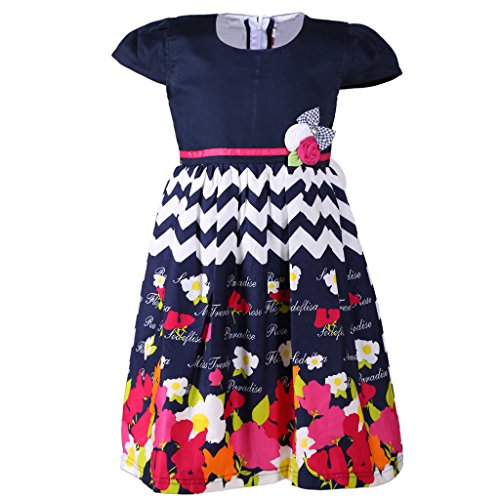 Sweety Jilax Blue and White 9 Year Girls Frock