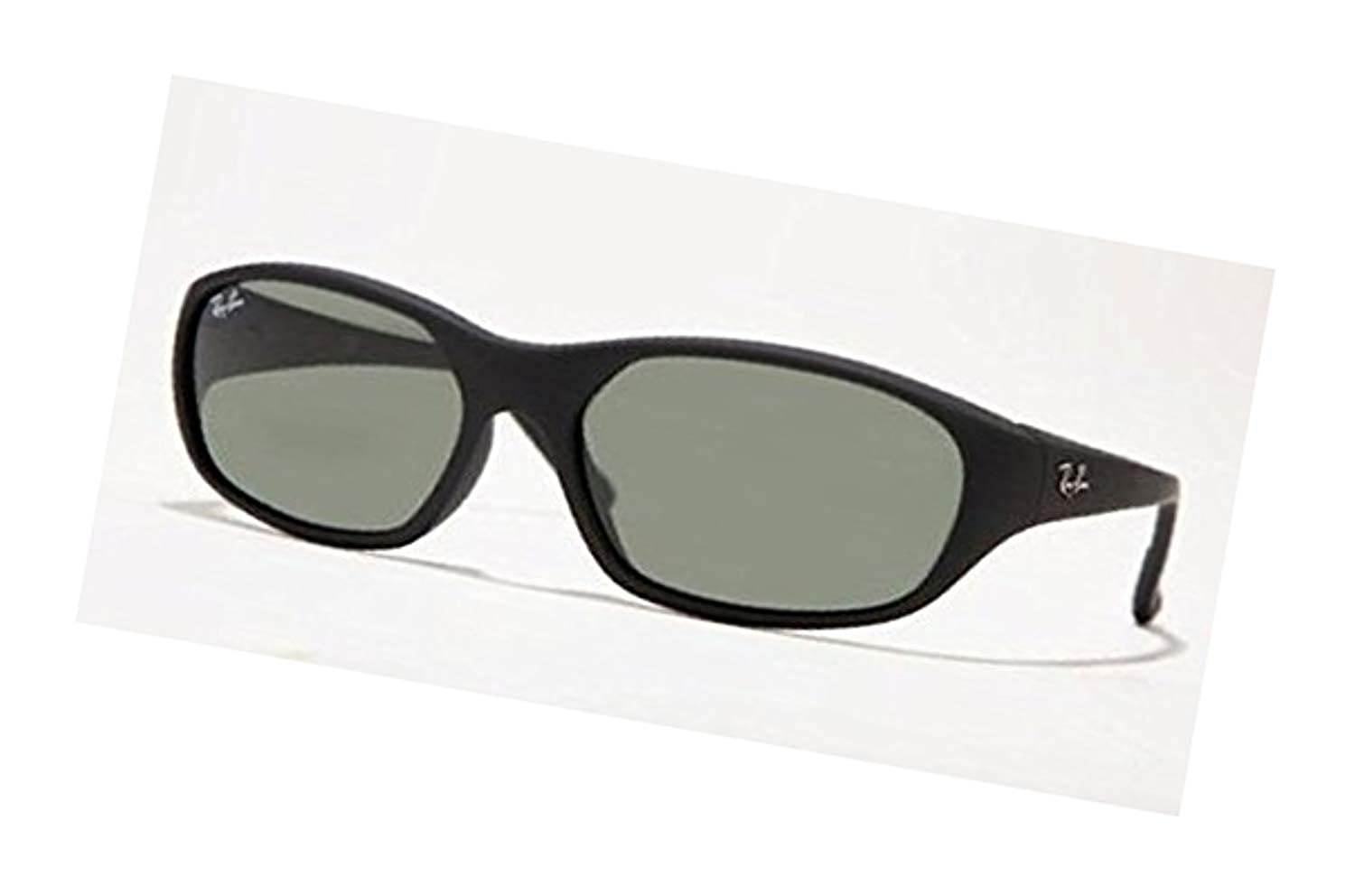 5ee4147087 Amazon.com  Ray-Ban Daddy-O RB 2016 Sunglasses Matte Black Crystal Green  59mm   HDO Cleaning Carekit Bundle  Clothing