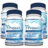 Proaxil - Extra Strength Vegan Saw Palmetto Supplement For Prostate Health - Healthy Urination Frequency & Flow Formula - 4 Bottles