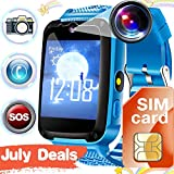 Kids Phone Smart Watch[FREE SIM], Calling Smartwatch with SOS for 3-14 Yr Boys Girls,  Touch Screen...