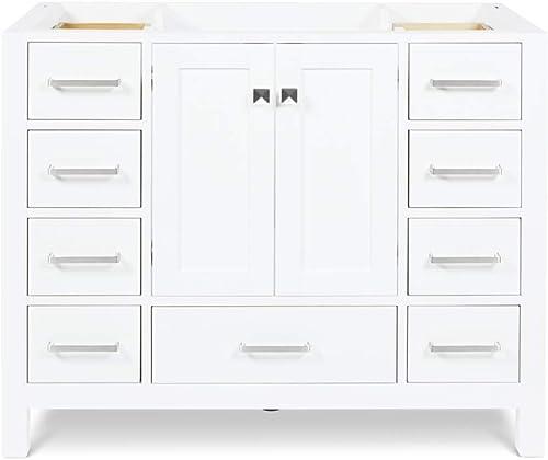 ARIEL 42″ Inch White Bathroom Vanity Base