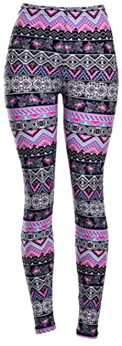 High Quality Printed Leggings (Lavender Aztec)