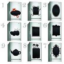 (30'' x 30'') Chalkboard Kitchen Fridge Vinyl Label / Blackboard Waterproof Adhesive Crayons Drawings Notes Decal / Refrigerator Memo Noteboard Sticker