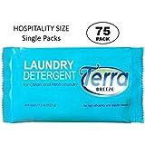 (Case of 75) Terra Breeze Laundry Detergent Powder - 1.5 oz Packets