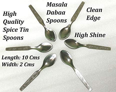 Specialty Flatware Spoons 8.5cm Pack of 12 Indian Crafts idea 12 x Stainless Steel Small Masala Dabba Spoons,Indian Spice Container Spoons,Spoon Spices and Herbs,Tea Spoons
