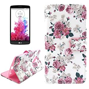 Flower Pattern Cross Texture Funda con tapa Holder Case Cover & Slots & Card Wallet para LG G4