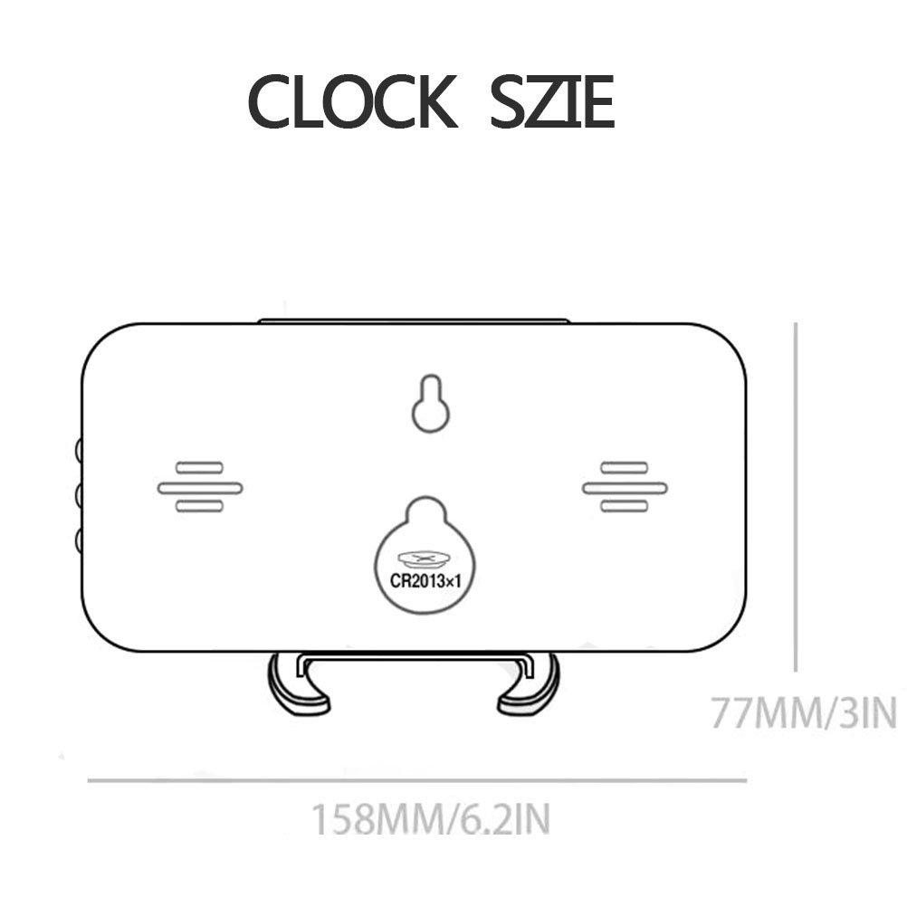 ES-BLUS Despertador/Led Despertador Digital/Puerto De Carga USB Memoria De Tiempo Reloj Multifuncional, Blanco: Amazon.es: Hogar