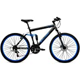 Generic Men's Mountain Bike with Full Suspension, Blue