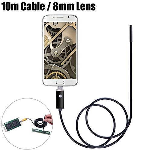 AN99-B2-8 2m 2 in 1 Android PC 8mm Lens Endoscope Inspection Wire Camera IP67 Waterproof by Muicatte