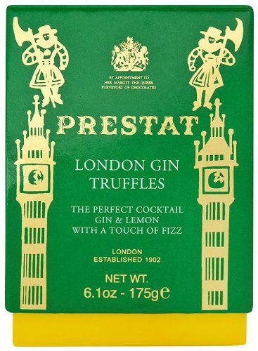 Prestat White Chocolate London Gin and Lemon Truffles 175 g