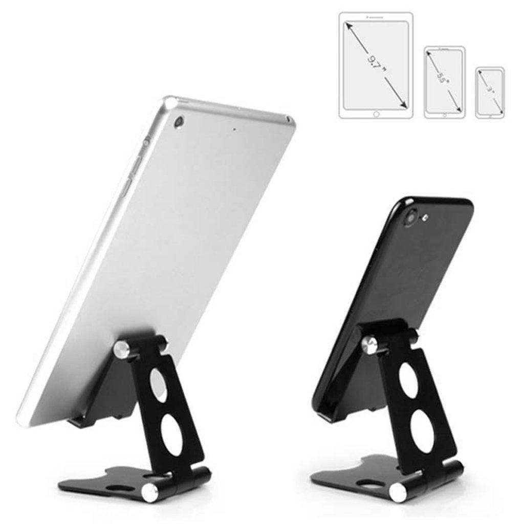 Tenedor del tel/éfono Soporte de Escritorio Plegable Plegable de Aluminio del Soporte de Escritorio de la Tableta del tel/éfono Celular