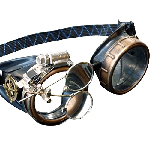 Costume Traveler Time Steampunk (Steampunk Victorian Goggles welding Glasses diesel)