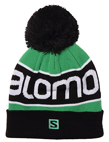 Salomon Kid's Logo Warmth Skiing Beanie Hat OSFA GREEN