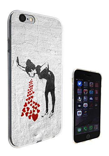 217 - Banksy Graffiti Art Vomit Hearts Girl Design iphone 6 6S 4.7'' Fashion Trend Silikon Hülle Schutzhülle Schutzcase Gel Rubber Silicone Hülle