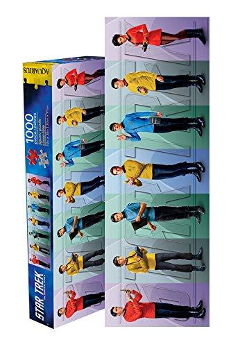 Aquarius Star Trek Cast Slim Puzzle (1000-Piece) (Puzzle Star Trek Jigsaw)