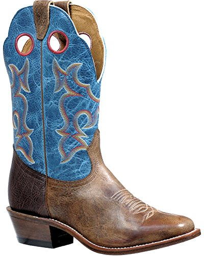 Taupe Roughstock Cowboy Boot Square Toe Taupe 10 D(M) US (Boulet Mens Medium Square)