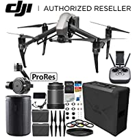 DJI Inspire 2 Quadcopter with Apple ProRes License with 24mm f/2.8 ASPH LS Lens & Zenmuse X7 Camera and 3-Axis Gimbal Bundle