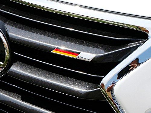 ijdmtoy aluminum plate germany flag emblem badge for germany car front grille side fenders. Black Bedroom Furniture Sets. Home Design Ideas