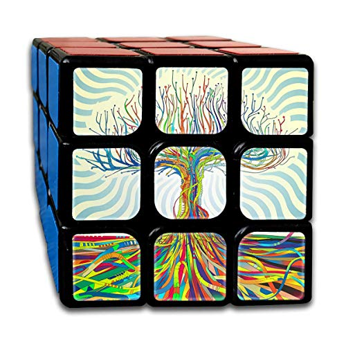 3x3 Rubik Cube Colorful Tree Root Smooth Magic Cube Sequential Puzzle ()