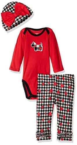 Gerber Baby 3 Piece Bodysuit, Cap and Legging Set, dog, 6-9 Months