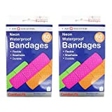 120 Neon Adhesive Waterproof Bandages Strip 3/4 Kids Children First Aid by 1st Aid Solution