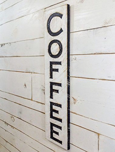 - Vertical Coffee carved sign 40