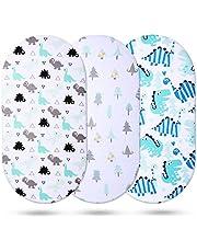 Momcozy Universele lakens van 100% ademend katoen voor jongens, geschikt voor de meeste lakenonderleggers/matrassen zoals Halo, MiClassic, Chicco Lullago UVM.