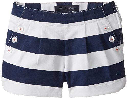 Tommy Girl Big Girls' Stripe Shortie, Medium Navy, 14