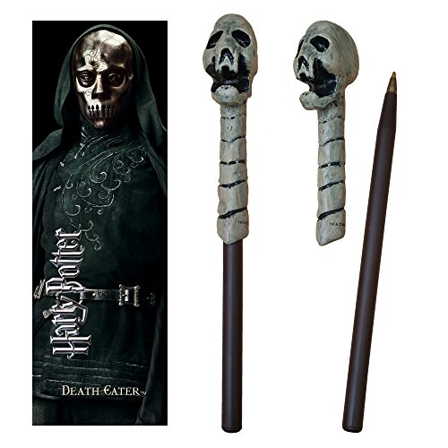 Harry Potter Death Eater Skull Wand Pen and Bookmark