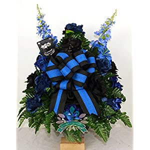 Memorial Fallen Police Officer Cemetery Vase Arrangement 39