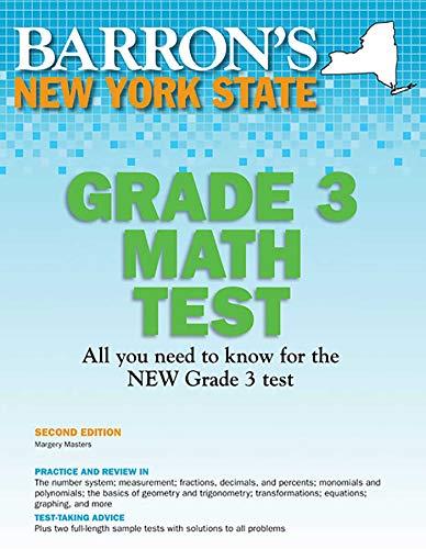 New York State Grade 3 Math Test (Barron's Test Prep NY) (New York State Test Prep Grade 7)