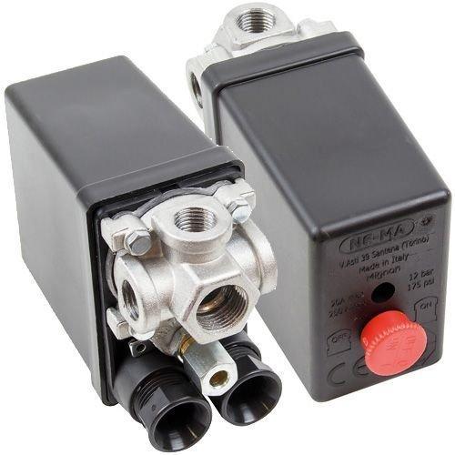 PRESSOSTATI Mignon 4-Way Pressure Switch for AIR Compressor - 1PH NE-MA Pressostati ITALY