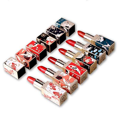 ROPALIA Women's Lipstick Chinese Style Lipstick Set Long lasting non-marking moisturizing lipstick