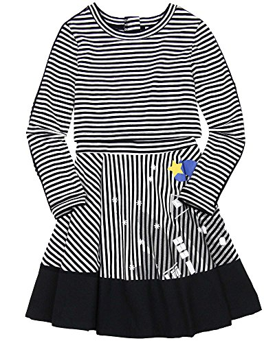 Deux par Deux Girls' Striped Dress Paris Je T'aime, Sizes 7-12 (7)