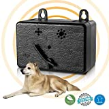 Lambow Mini Bark Control Device Outdoor Anti Barking Deterrent Ultrasonic Dog Bark Control Sonic Bark Deterrents Silencer Stop Barking Bark Stop Repeller [Upgrade Device]