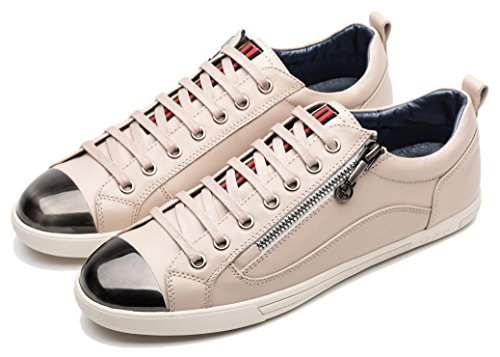 Opp Heren Lace-up Toevallige Schoenen In Leder Wit