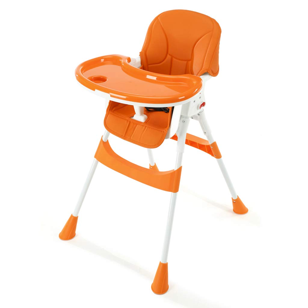 昼寝折りたたみ椅子 折り畳み式ベビーハイチェア、多機能高さ調節可能な子供用ダイニングチェアフットレスト送り椅子パズルチェア付き取り外し可能トレイPUレザーシートクッションシートベルト、キッチン、レストラン用 ポータブル折りたたみチェア (Color : C) B07T4JH12P C