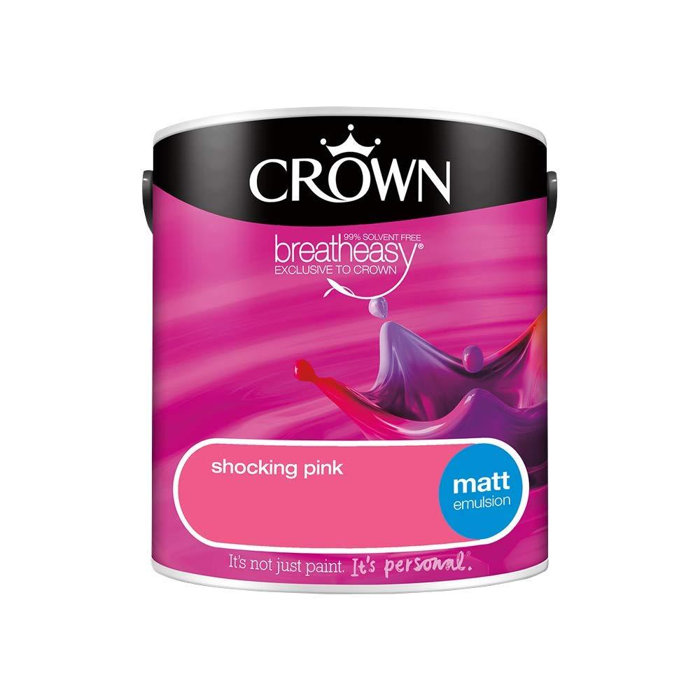 Crown Retail Core Emulsion Matt Shocking Pink 2.5 L Crown Paints 5062118