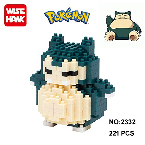 Anime Pokemon Snorlax Figure Diamond Mini Building Nano Block Toy Pocket Monster (Top Anime For Adults)