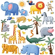 RoomMates RMK1136SCS Jungle Adventure Peel and Stick Wall Decals