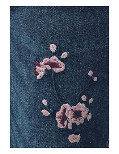 Jean Indigo york Femme Blue Mw Coupe Wash natural Blau emb slimfit Ajustée One 11114 Denim Street gOqzUnwYHg