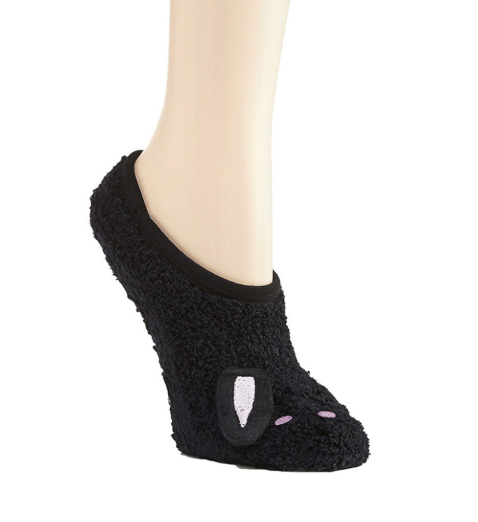 PJ Salvage Animal Slipper Socks, Black, One-Size