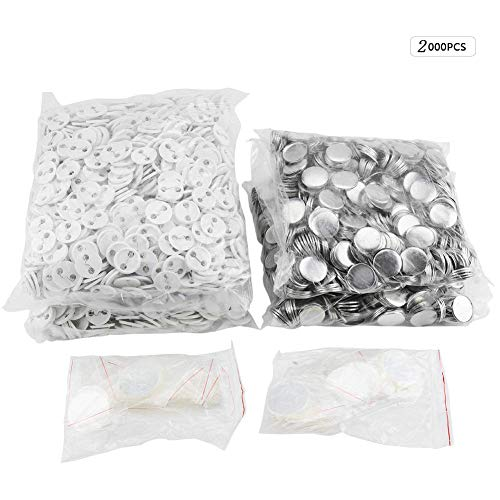 (2000pcs 25mm DIY Blank Pin Badge Button Cover Clip Pin Parts Consumables for Pro Button Maker Machine (1 inch(25mm)))