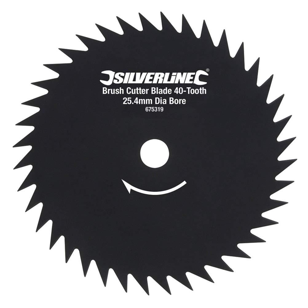 Silverline 675319 - Disco para desbrozadora de 40 dientes (Agujero ...
