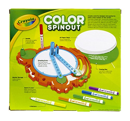 Crayola; Color Spinout; Marker Art Activity and Art Tool; Spin to Create Colorful Designs; Makes a Great Gift - coolthings.us