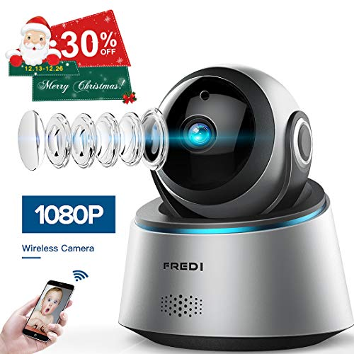 FREDI 1080p Wireless Camera HD WiFi IP Camera for Baby/Elder/Pet/Nanny Monitor, Pan/Tilt, Two-Way Audio & Night Vision(Update Version)