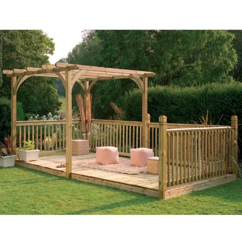 4,8 x 2,4 m tabla Kit de Pergola: Amazon.es: Jardín