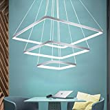 Andersonlight Post-modern Square Chandelier Simple Art Personality Restaurant Living Room Bedroom Lighting Creative Lamps Home Decoration