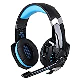 Beyda NEW USB 7.1 Surround Sound Version Professional Game Headsets,Gaming Headphone, Computer Headset Earphone Headband with Microphone, LED Light for Computer.Laptop.Tablet. All Mobile Phones (Blue) Review